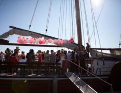 Trouwen op een boot